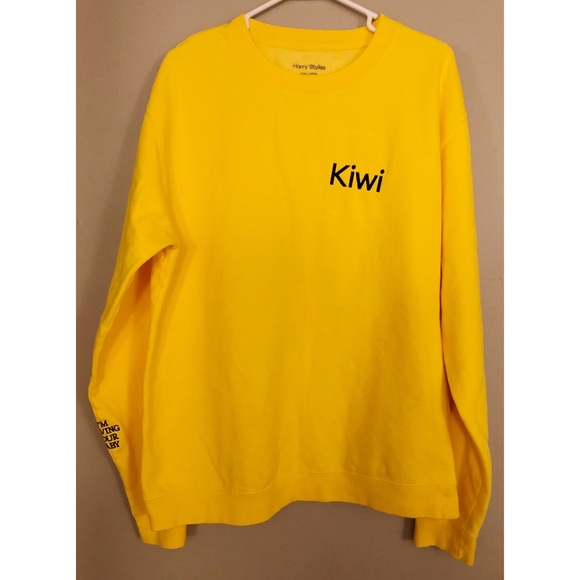 2fd0e75f42 Harry Styles Tour Yellow Kiwi Crewneck Sweatshirt